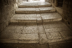 The old steps of ancient city Stock Images