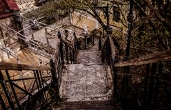 Old steps in the center of Kiev stock photography