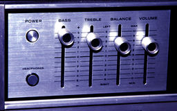 Old Stereo. Amplifier with Controls royalty free stock photo