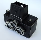 Old stereo camera Royalty Free Stock Photo