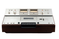Old stereo cassette deck Royalty Free Stock Photos
