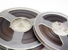 Old stereo magnet tape Stock Photo