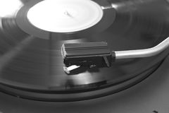 Old stereo vinyl record player. Details stock photos