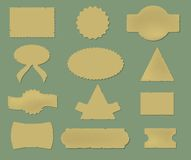Old stickers set for design Royalty Free Stock Photos
