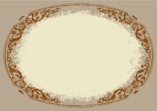 Old stile round frame Stock Image