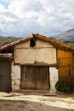 Old Stilt Granary. In Jarandilla de la Vera village, Spain Stock Photos