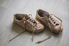 Old stinky sneakers Stock Photography