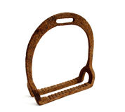 Old stirrup. On a white background Royalty Free Stock Photo