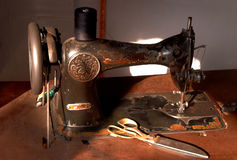 Old stitching machine Royalty Free Stock Image