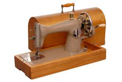 Old stitching machine and case Stock Image