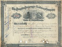 Old Stock Certificate 3 Stock Photos