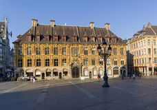 Old stock exchange in Lille, France. stock photography