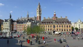 Grand Place, Place Charles de Gaulle in Lille, France