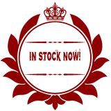 Old IN STOCK NOW   red seal. Royalty Free Stock Image