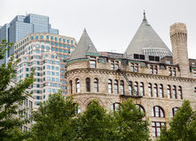 Old Stone And Modern Buildings In Boston Royalty Free Stock Photography