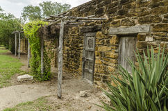 Free Old Stone And Wood Houses At Mission San Jose In San Antonio, Te Stock Photos - 67618373