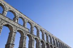 Aqueduct in Segovia. An old stone aqueduct in Segovia, Spain stock image