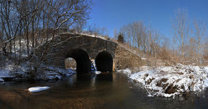 Old stone arch bridge Royalty Free Stock Photography