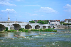 Old stone arch bridge Royalty Free Stock Image