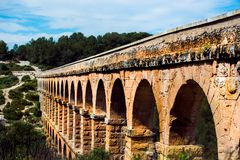 Old stone arch bridge Stock Photography