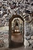 Passage of an old castle royalty free stock image