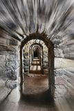 Passage of an old castle royalty free stock images