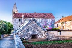 Old stone architecture in Dalmatia, Croatia. Royalty Free Stock Image