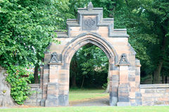 Old Stone archway entrance Royalty Free Stock Image