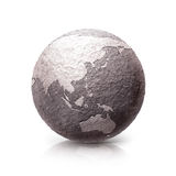 Old Stone Asia & Australia world map 3D illustration. On white background Royalty Free Stock Photos