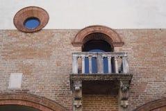 Old stone balcony Stock Image