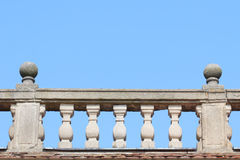 Old stone balustrade with blue sky Royalty Free Stock Images