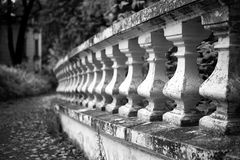 Old stone balustrade in the park Royalty Free Stock Photography