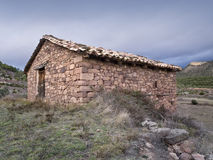Old Stone Barn. Located in a mountain area Royalty Free Stock Photography