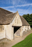 Old Stone Barn. Old Stone Tithe Barn in the Historic Town of Bradford on Avon in Wiltshire England Stock Photography