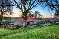Old Stone Barn. On at Emsworthy on Dartmoor National Park in Devon Royalty Free Stock Photography