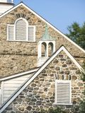 Old Stone Barn Gables. Old Pennsylvania fieldstone barn gables with classical styling royalty free stock photography
