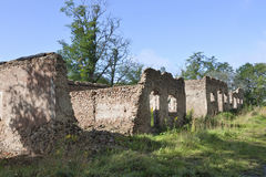 Old stone barn ruin Royalty Free Stock Images