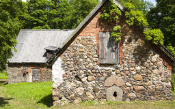 Old stone barns Stock Image