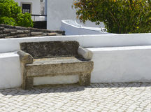 Old stone bench Stock Images
