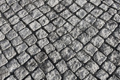 Old stone-block pavement Stock Image
