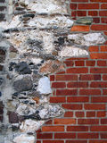 Old Stone and Brick Decorated Wall. Stock Photography