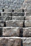 Old stone brick staircase closeup Royalty Free Stock Photos