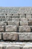 Old stone brick staircase closeup Stock Image