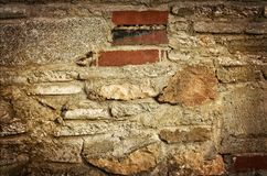 Old stone and brick texture. Stock Photo
