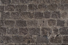 Old stone brick wall with as background in Rome, Italy Royalty Free Stock Photography