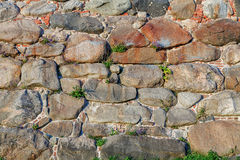 Old stone and brick wall Royalty Free Stock Images