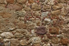 Old stone and brick wall  background Stock Photo