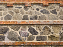 Old Stone and Brick Wall Stock Photography