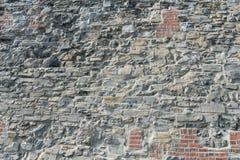 Stone and brick wall. Old stone and brick wall, Montreal, Quebec, Canada Royalty Free Stock Photo