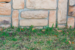 Old stone brick wall texture background. Stock Photos